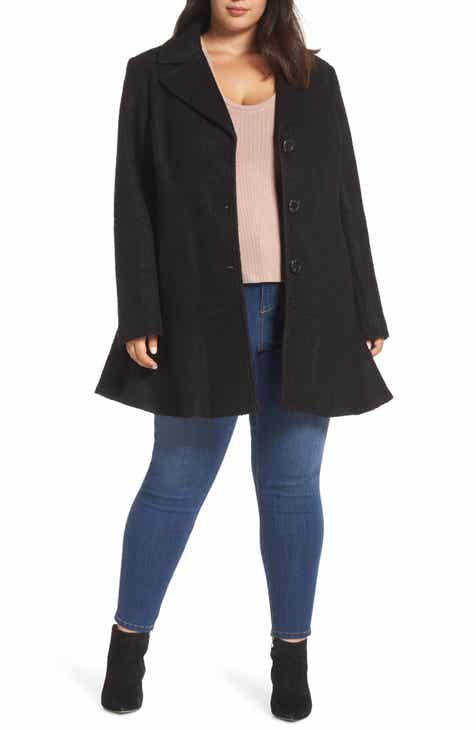 9128dd8e6b1 kensie Notch Lapel Peplum Coat (Plus Size)