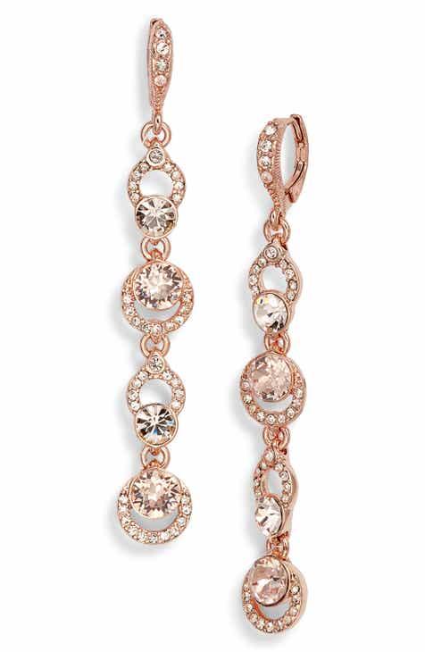 Givenchy Pavé Crystal Linear Drop Earrings