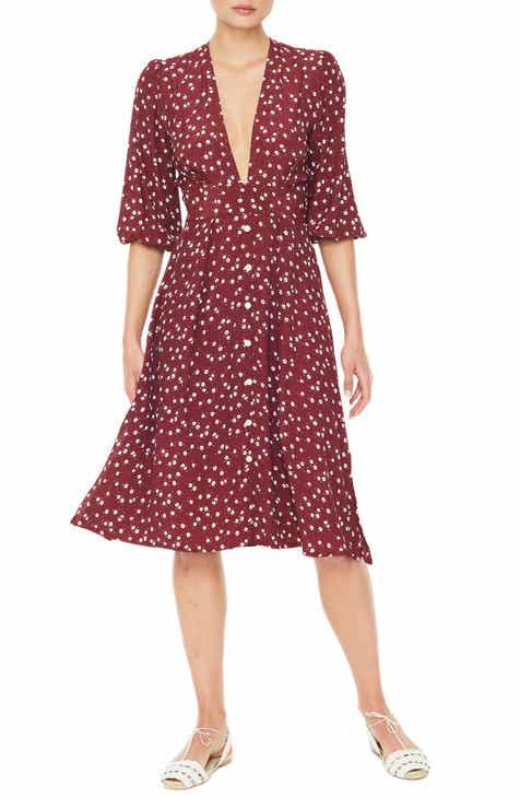 c7ccbee953 FAITHFULL THE BRAND Chloe Floral Print Midi Dress