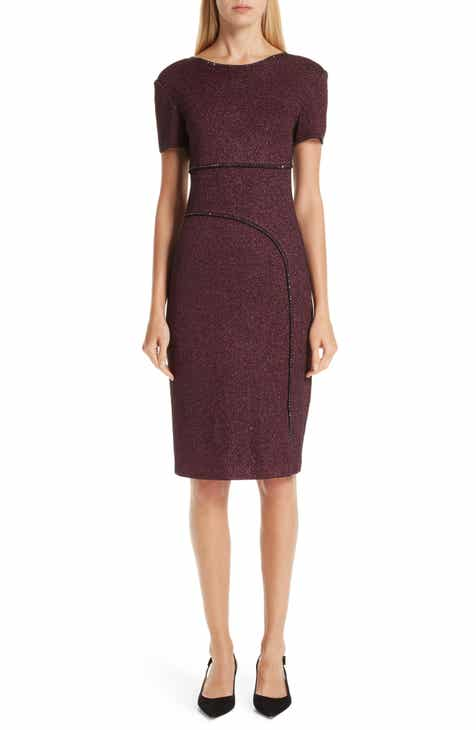 St. John Collection Mod Metallic Knit Sheath Dress by ST. JOHN COLLECTION