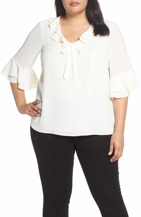 1d5ed904c2f24 CeCe Ruffled Bow Top (Plus Size)