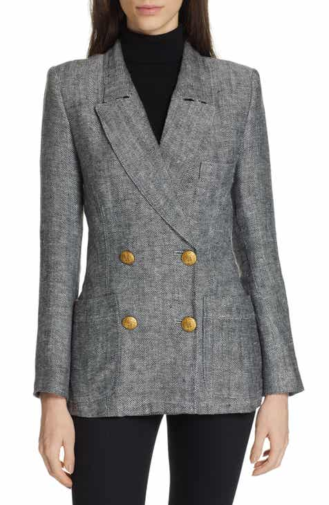 1.STATE Linen Single Button Blazer (Plus Size) by 1.STATE