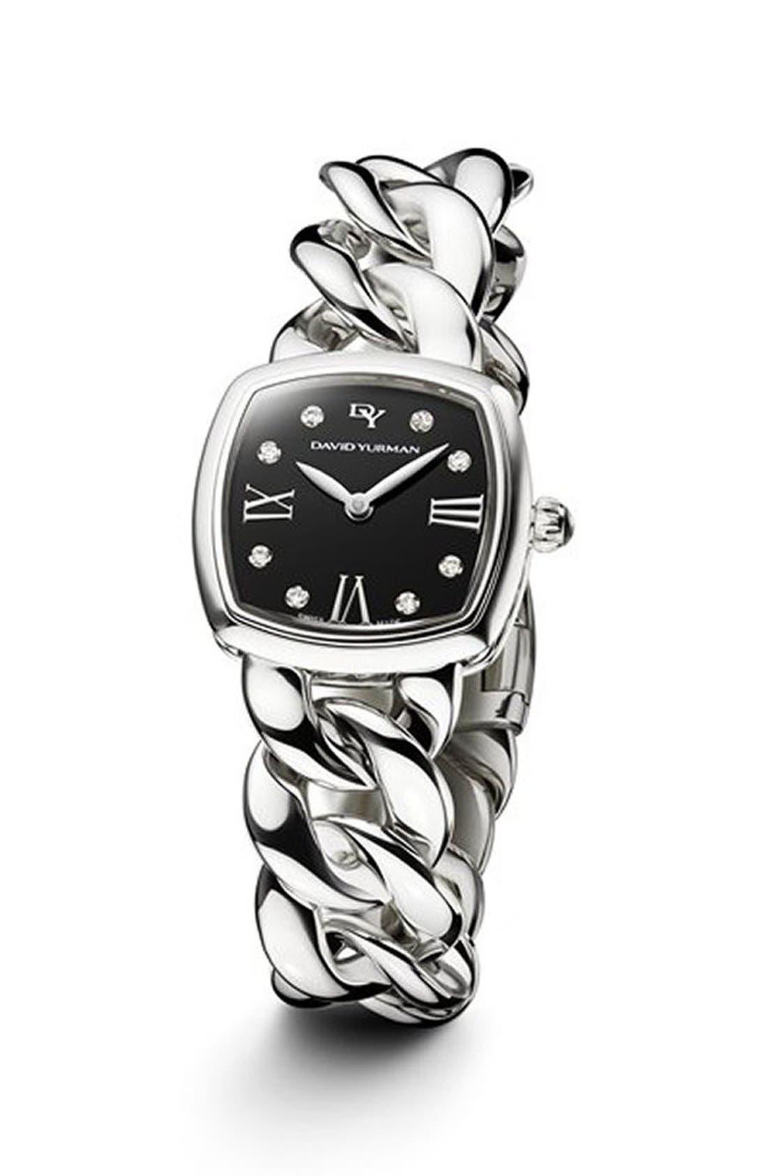 DAVID YURMAN Albion 23mm Stainless Steel Quartz Watch with Diamonds