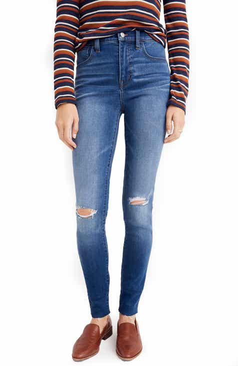 981573c320f Madewell Roadtripper Ripped High Waist Ankle Skinny Jeans (Lewis)
