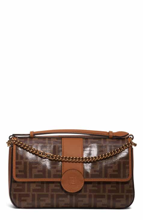 Fendi Mini Logo Canvas Crossbody Bag