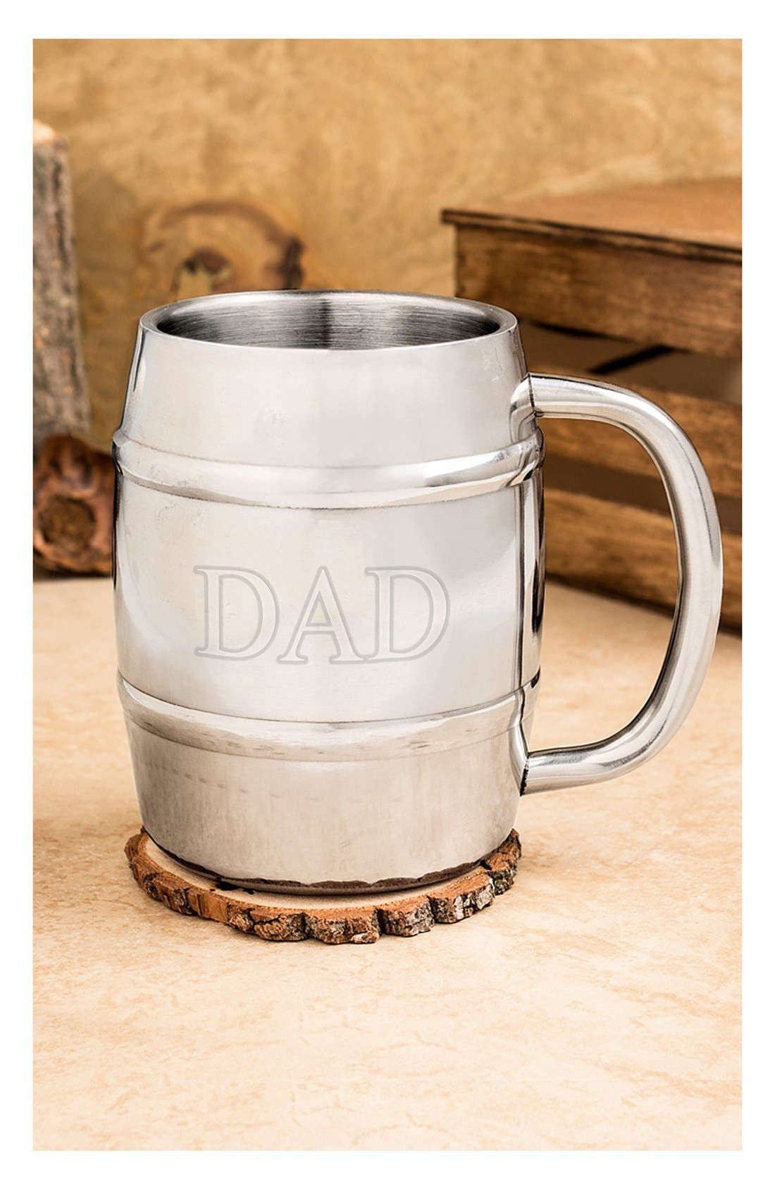 'Dad' Keg Mug,                             Alternate thumbnail 2, color,                             Silver
