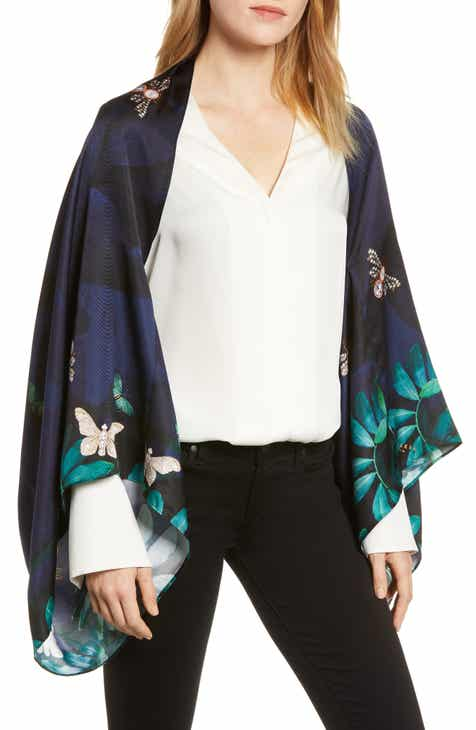 08764743c390 Ted Baker London Houdini Silk Cape Scarf