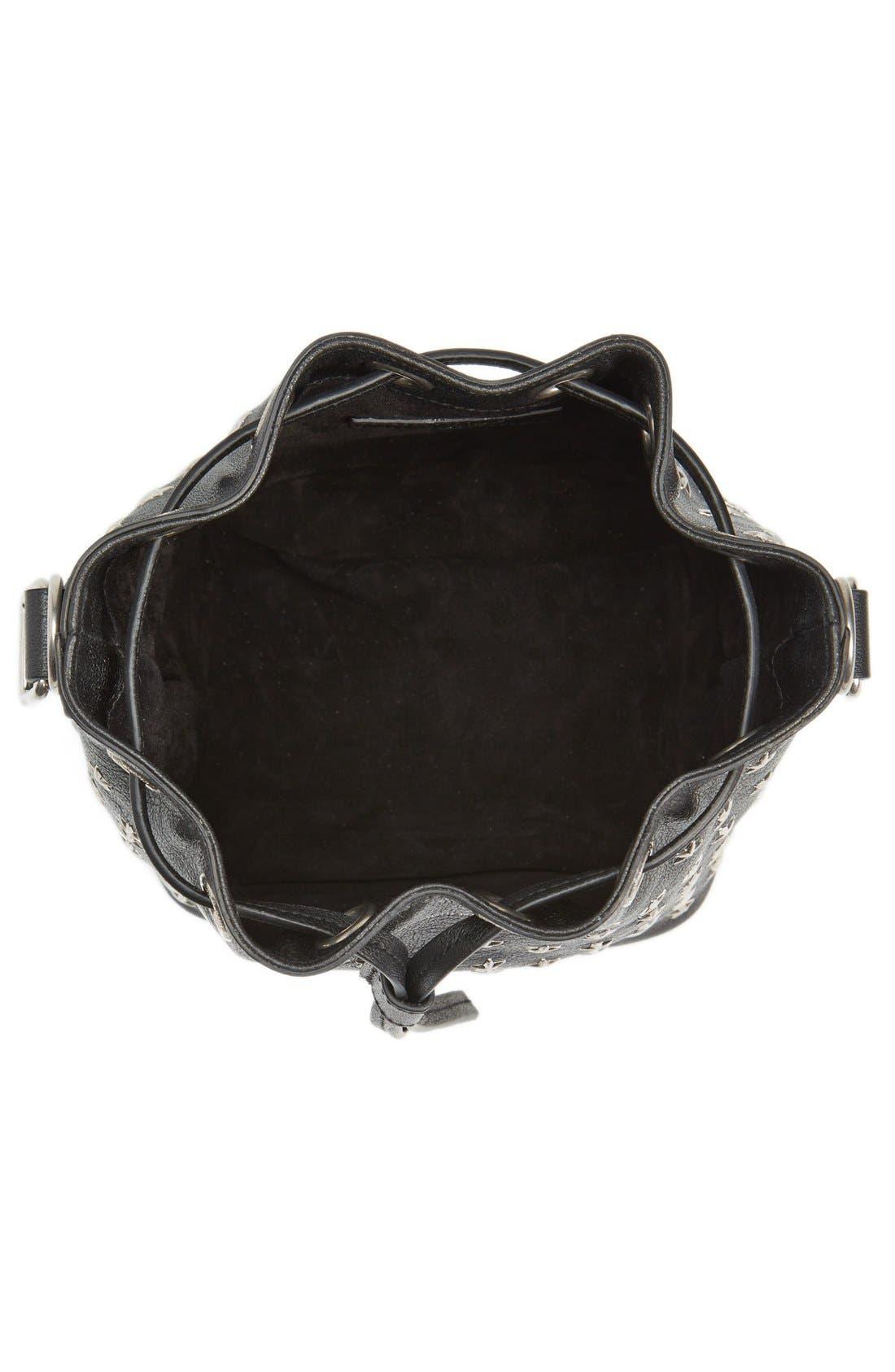 Alternate Image 3  - Saint Laurent Studded Small Leather Bucket Bag
