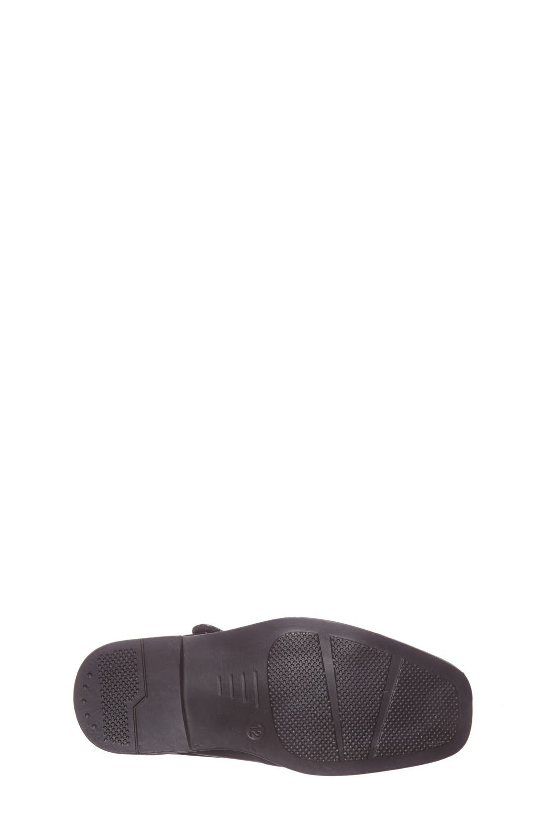 Double Monk Strap Shoe,                             Alternate thumbnail 4, color,                             Black