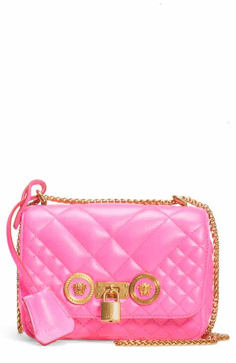 3074af5bc1 Versace Icon Quilted Leather Crossbody Bag