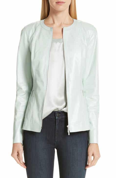 Lafayette 148 New York Janella Leather Jacket by LAFAYETTE 148