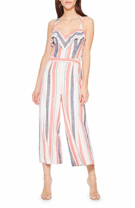 820c4725113 Parker Angie Multistripe Linen Blend Jumpsuit.  248.00. Product Image