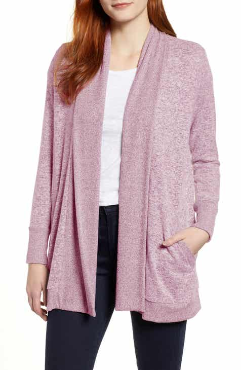 Gibson Cozy Ribbed Cardigan (Regular   Petite) c61a91b52