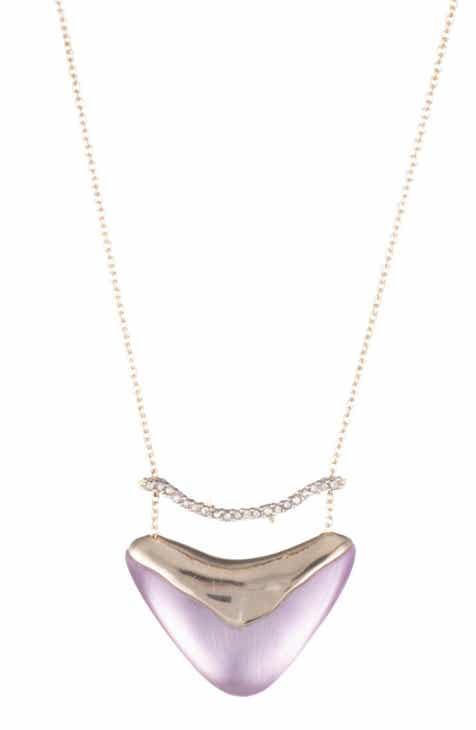 dd8e26d07 Alexis Bittar Crystal Encrusted Bar   Shield Pendant Necklace