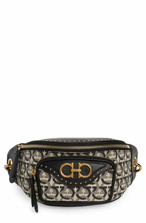 dc1a3dac815f Salvatore Ferragamo Leather   Jacquard Belt Bag