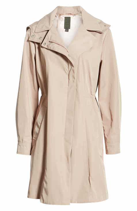 4a9d215b80c7 Kristen Blake Tech Hooded Trench Coat (Regular   Petite)