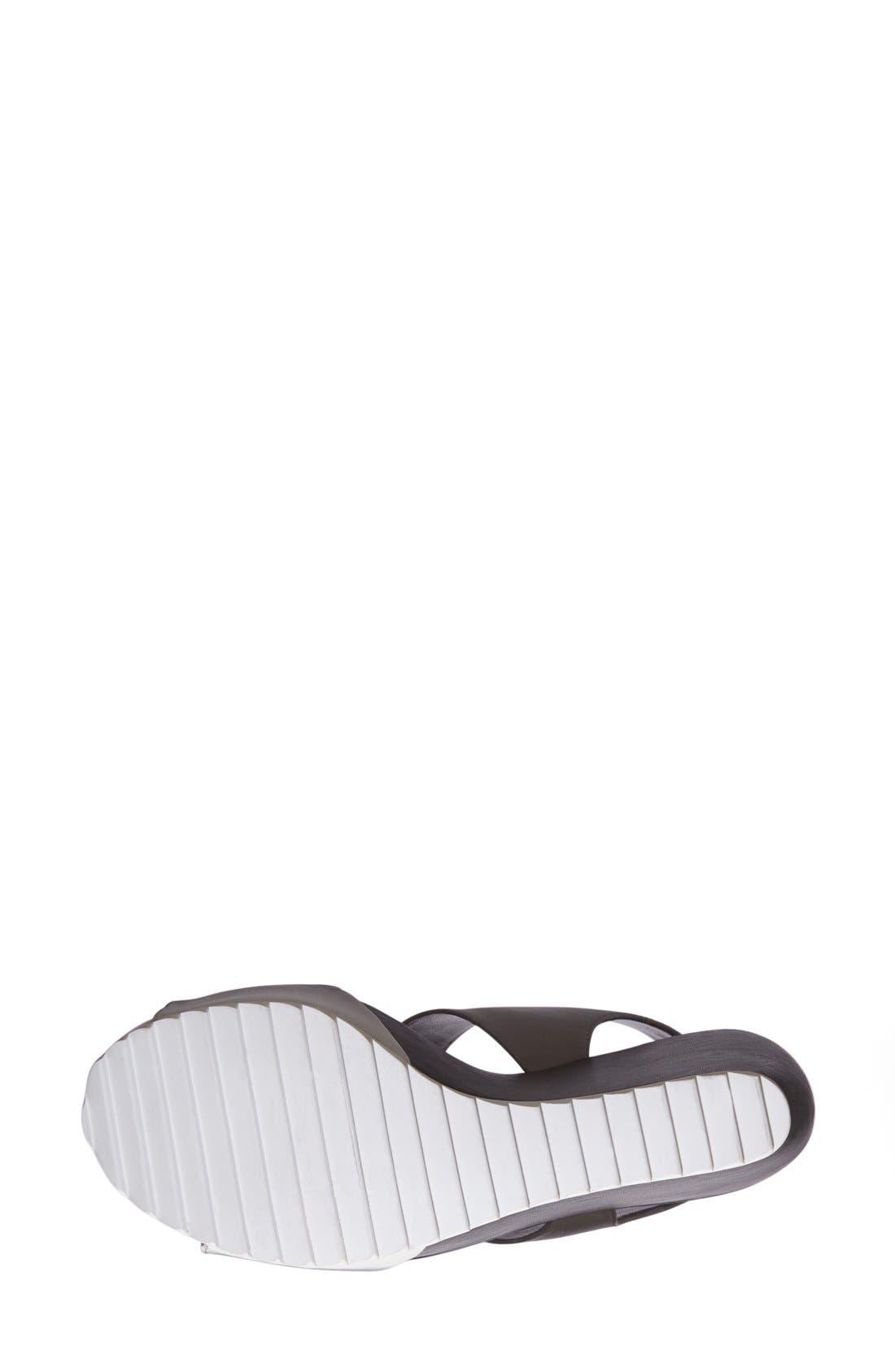 Alternate Image 4  - Trouvé 'Morgan' Platform Wedge Leather Sandal (Women)