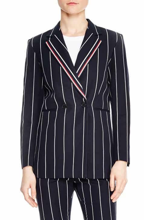 sandro Ilian Pinstripe Jacket by SANDRO
