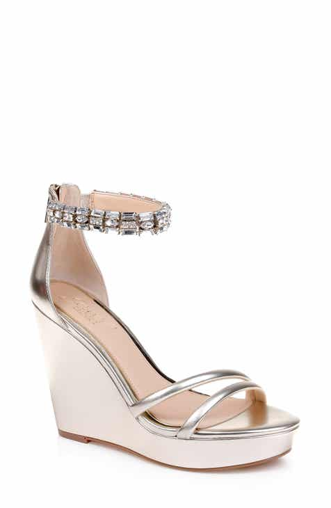 bc112bff176f Jewel Badgley Mischka Kathleen Ankle Strap Wedge Sandal (Women)