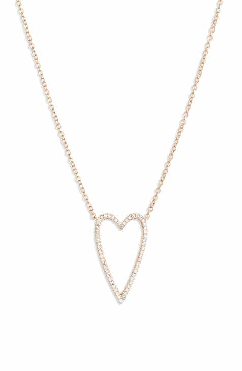 Bony Levy Large Diamond Open Heart Pendant Necklace (Nordstrom Exclusive) dbecfdeb7