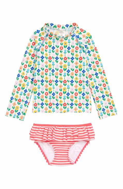 463256fad33 Mini Boden Two-Piece Rashguard Swimsuit (Toddler Girls)