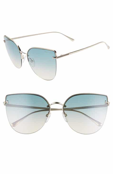 7f2a8f1a15 Tom Ford Ingrid 60mm Cat Eye Sunglasses