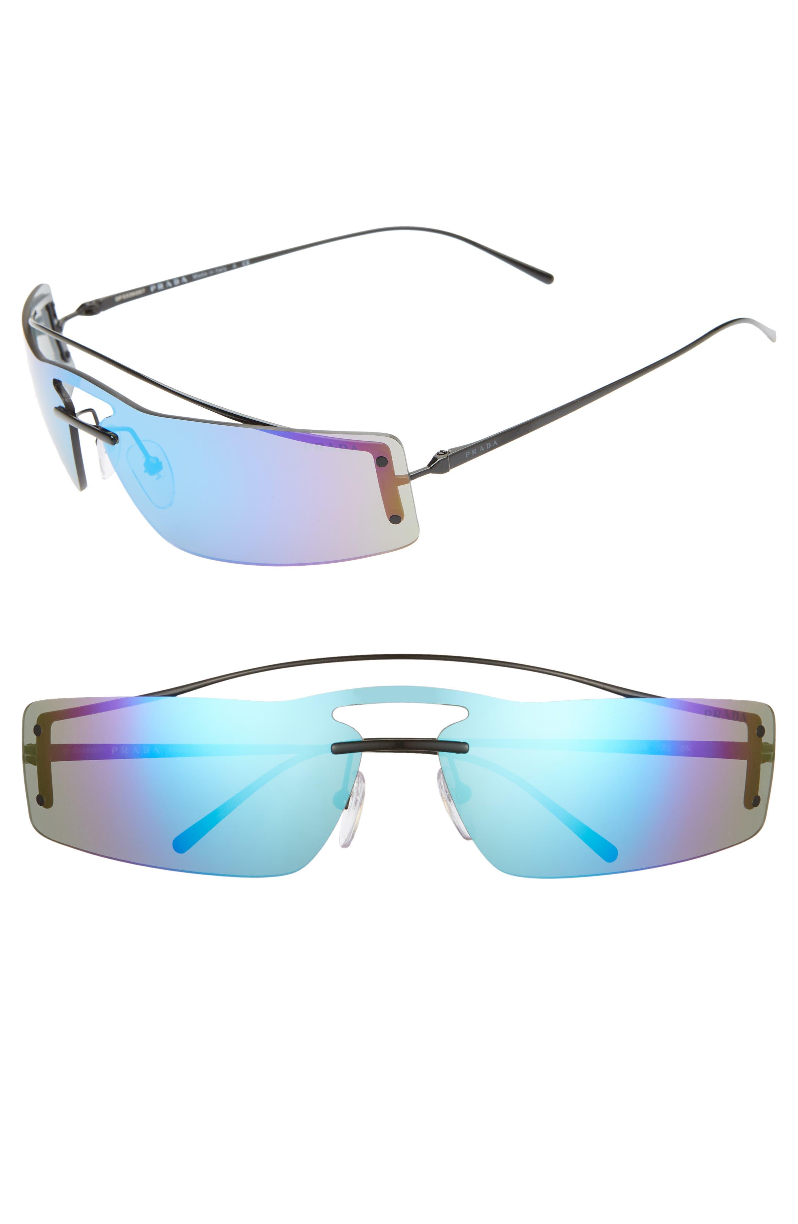 3a31129c318f1 ... best price prada 73mm mirrored wrap sunglasses 03b16 0bc77