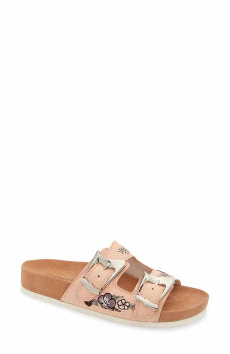 1bd1df093 Donald Pliner Baylie Embroidered Slide Sandal (Women)