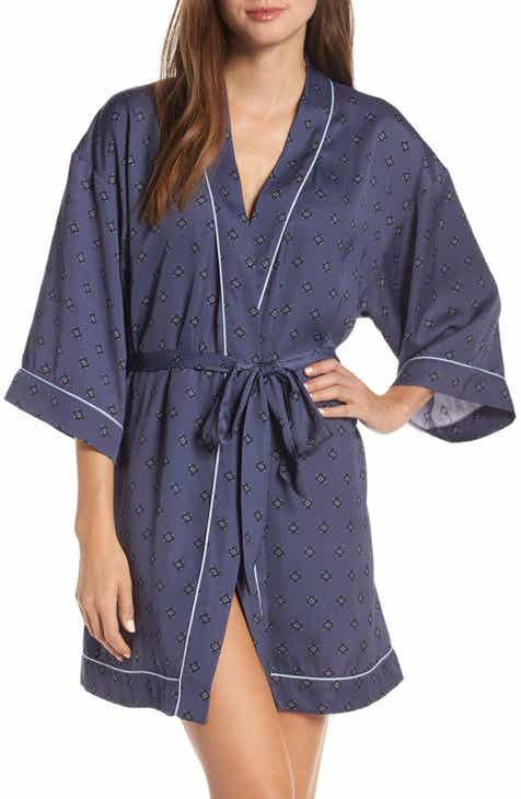 Nordstrom Lingerie Sweet Dreams Short Satin Robe (Regular & Plus Size) By NORDSTROM LINGERIE by NORDSTROM LINGERIE Best Design