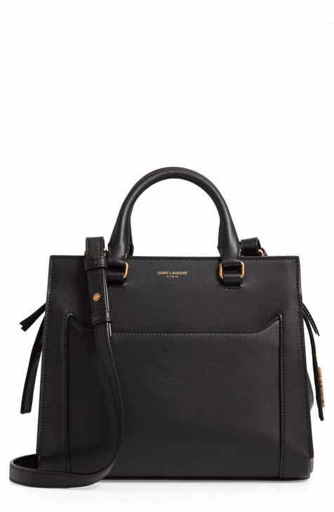 Saint Laurent East Side Baby Cabas Leather Satchel ffb3d6eea06df