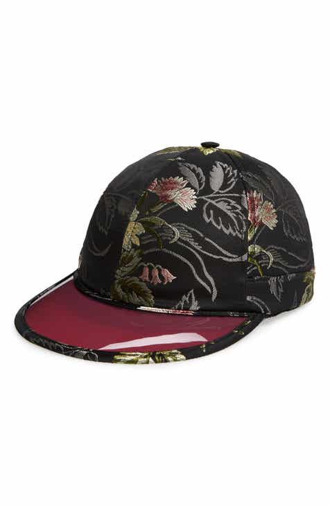 6ecfea9c66e Gucci Brocade Baseball Cap with Vinyl Brim