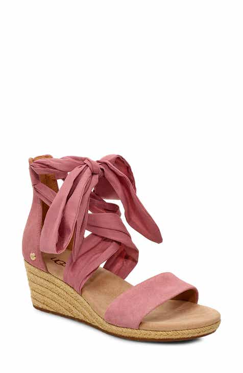 fb93c90fdcc UGG® Trina Ankle Tie Wedge Sandal (Women)