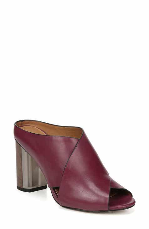 85de9f27188 Red Block-Heel Sandals for Women