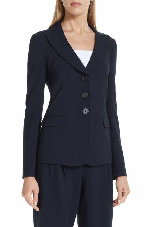 Emporio Armani Woven Stretch Wool Jacket by EMPORIO ARMANI