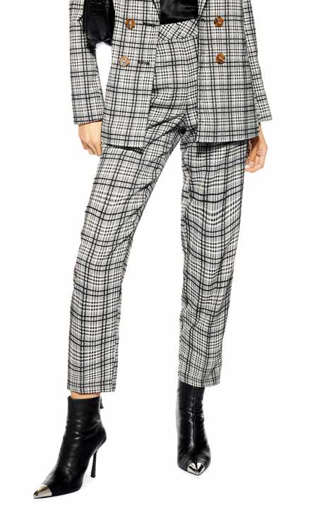 Topshop Molly Check Cigar Pants by TOPSHOP