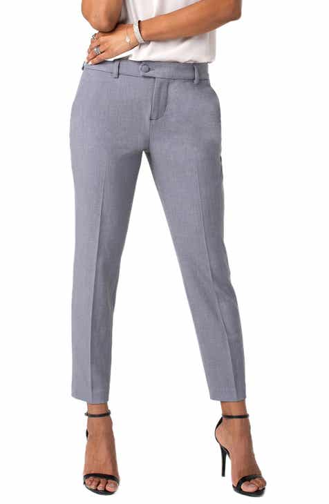 Liverpool Skylar Straight Leg Stretch Twill Trousers by LIVERPOOL