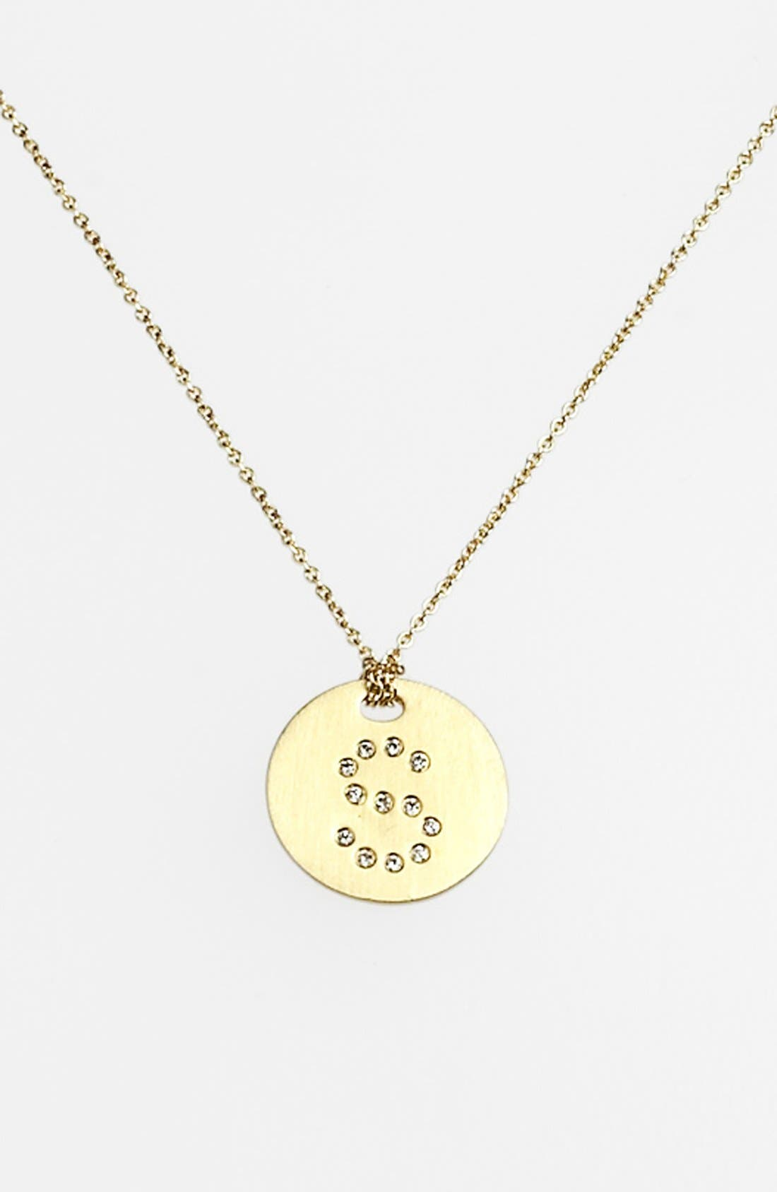 Main Image - Roberto Coin 'Tiny Treasures' Diamond Initial Disc Pendant Necklace