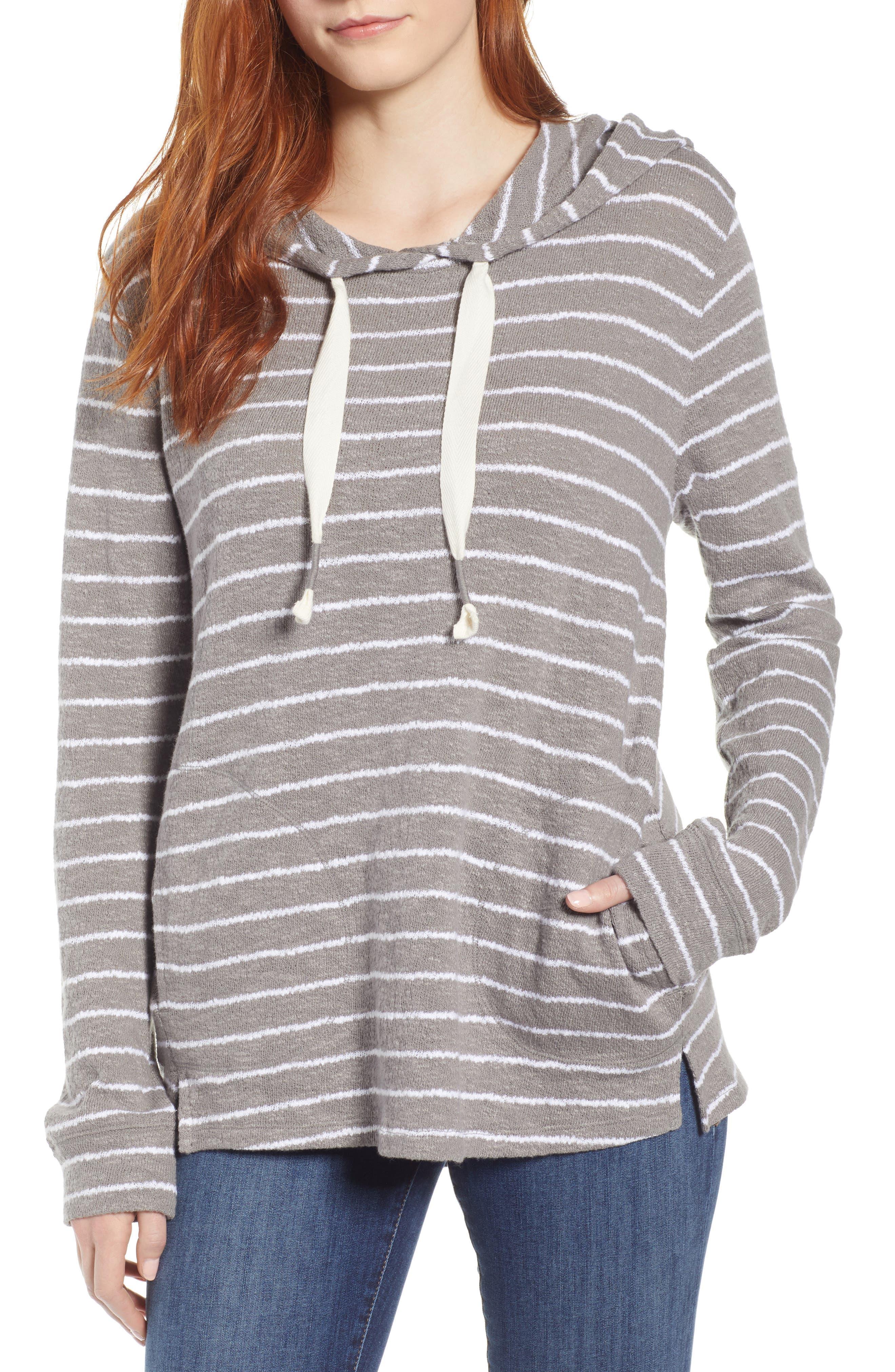 Zella Hooded Pullover Soft Sweatshirt Wine Color Size Medium Women's Clothing