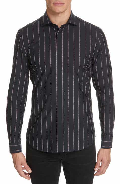 f8b0ec32d3562 Versace Collection Logo Stripe Sport Shirt