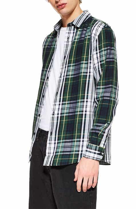 8f89b2b1d5eb0 Topman Tartan Slim Fit Sport Shirt