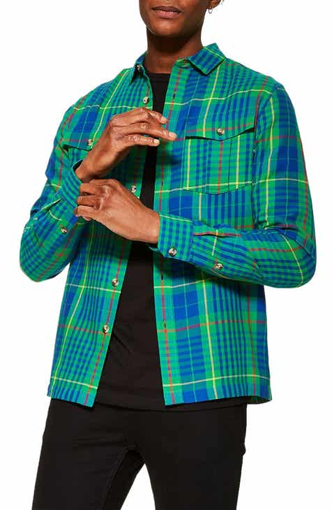 5b3ace27890a Topman Check Casual Shirt Jacket