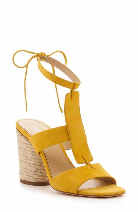 e4e36d7df60 Yellow Block-Heel Sandals for Women