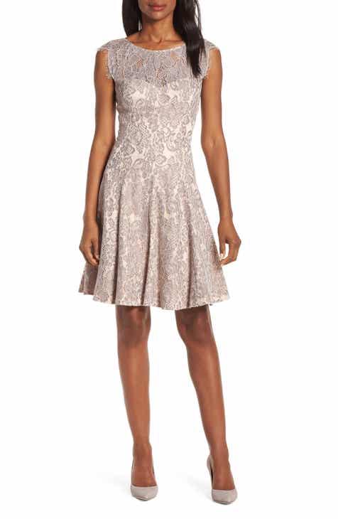 f66fe48b4 Eliza J Lace Fit   Flare Dress