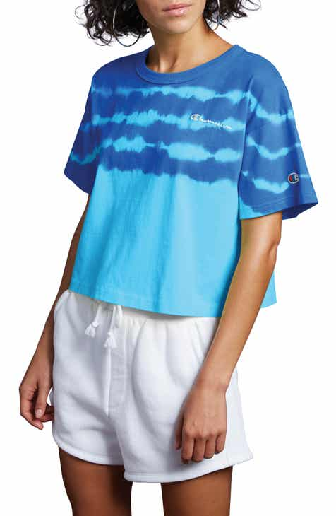 Champion Streak Dye Crop Tee by CHAMPION