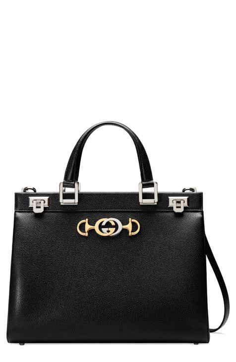 49cf039fecf Gucci Medium Zumi Leather Satchel