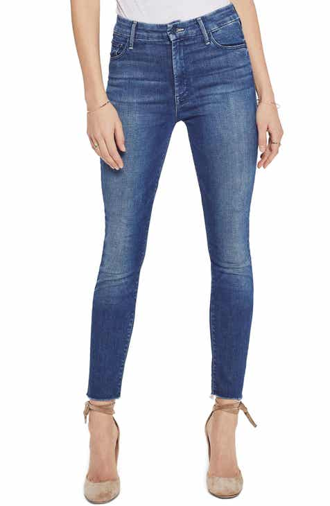37ebd0501363b MOTHER The Looker High Waist Frayed Ankle Skinny Jeans (Lure Me In)