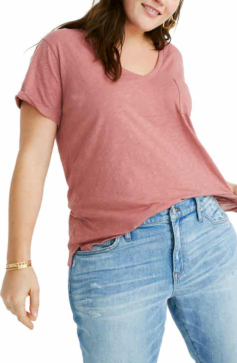 4b86a237f9d4 Madewell Whisper Cotton V-Neck Pocket Tee (Regular   Plus Size)