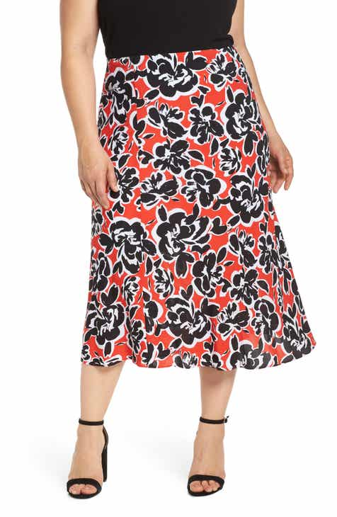 b3847a35401a Leith Bias Cut Midi Skirt (Plus Size)