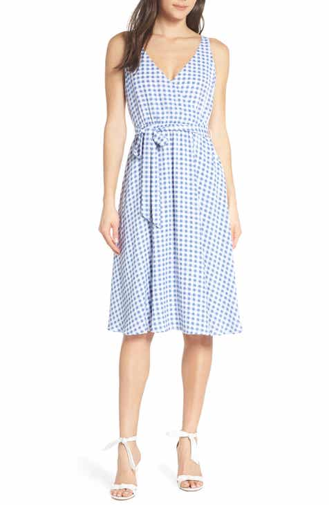 French Connection Gingham Tie Back Sleeveless Minidress by FRENCH CONNECTION