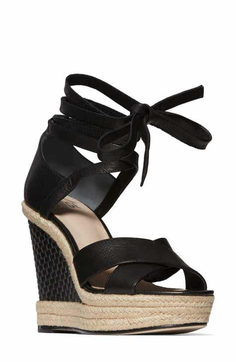 0d803e9a449 PAIGE Talia Wedge Ankle Wrap Sandal (Women)